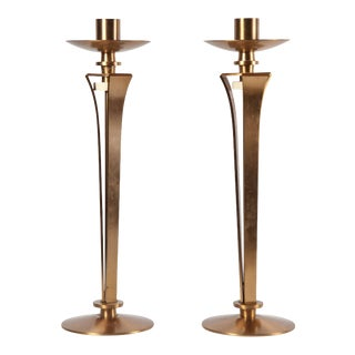 Bronze Candleholders by Jean Pascaud - A Pair For Sale