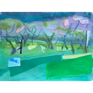 Contemporary Mixed Media Landscape For Sale