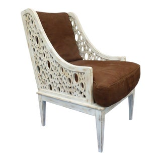 1990s Vintage Hollywood Regency Style Armchair For Sale