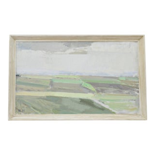 """Landscape"" Framed Painting by Svend Engelund For Sale"
