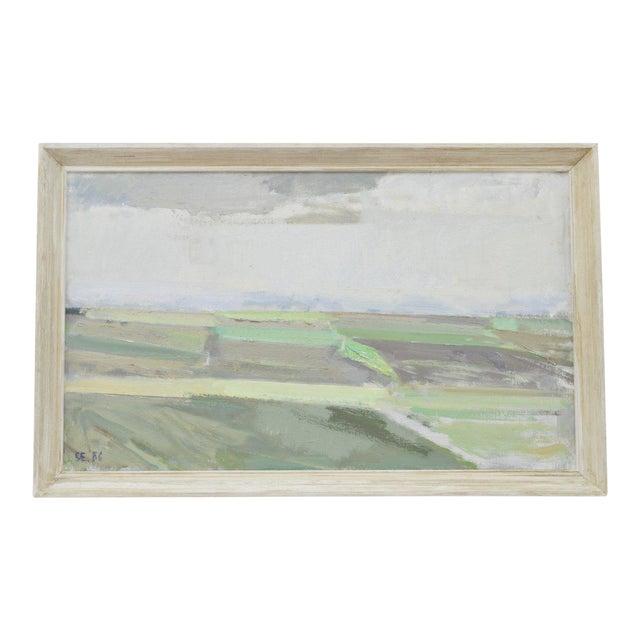 """""""Landscape"""" Framed Painting by Svend Engelund For Sale"""