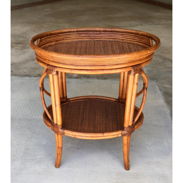 Bamboo Traditional Ethan Allen Tommy Bahama Style Bamboo Tray Table For Sale - Image 7 of 7