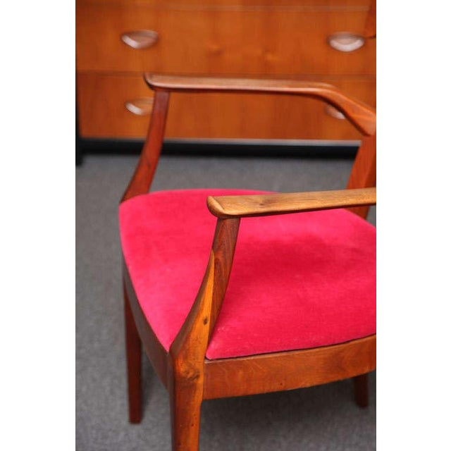 "Set of 6 Mid-Century Modern Drexel ""Declaration"" Line Walnut Dining Chairs 1950s For Sale - Image 9 of 12"