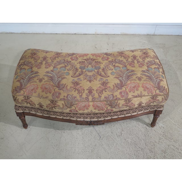 French Louis XV Style Loveseat with Ottoman - A Pair For Sale - Image 11 of 13