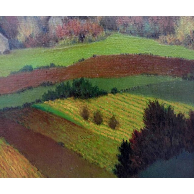 Mid-Century Modern 1950s French Henri Therme Landscape Oil Painting For Sale - Image 3 of 11