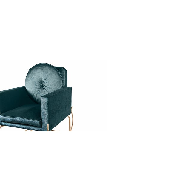 Hollywood Regency Hemma Chair From Covet Paris For Sale - Image 3 of 8