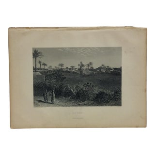 "Antique Original Engraving ""Lydda"" by J. Cramb Circa 1890 For Sale"