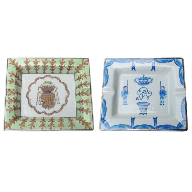 Blue Late 19th Century Antique Hermès-Style Chinoiserie Cigar Ashtrays For Sale - Image 8 of 8