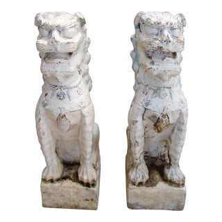 Foo Dogs Statues - a Pair For Sale