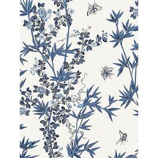 Scalamandre Jardin De Chine, Porcelain Wallpaper For Sale