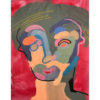 "Contemporary Abstract Portrait Painting ""a Lot Like This, No. 2"" For Sale"