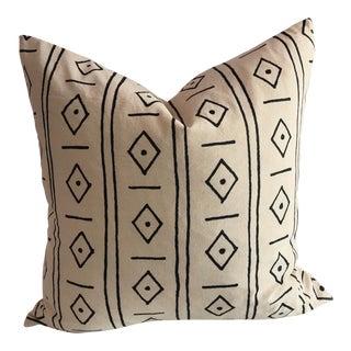 Boho Chic Diamonds Organic Cotton Pillow For Sale