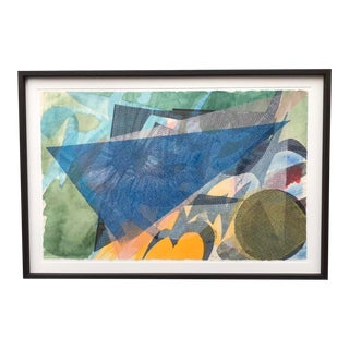 Lynda Benglis Mixed Media Painting 1988 For Sale