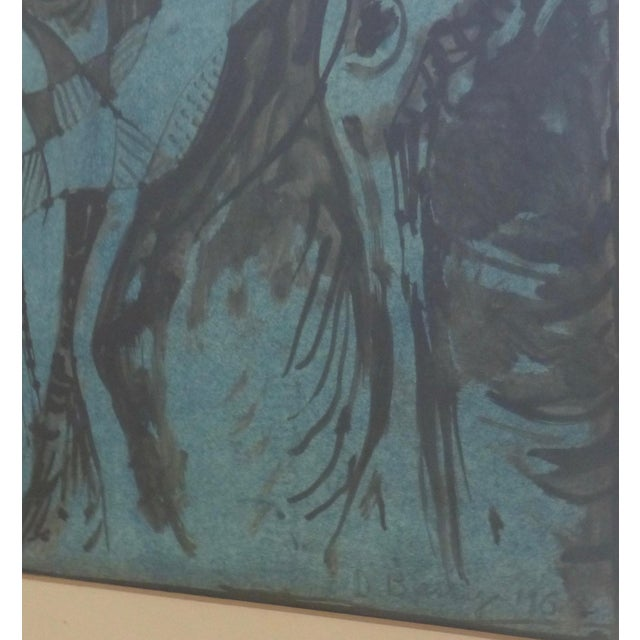 Mid Century Abstract Mixed Media Painting by Donald Berry For Sale - Image 4 of 13