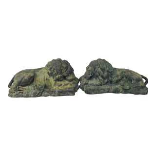 Pair of Lions For Sale