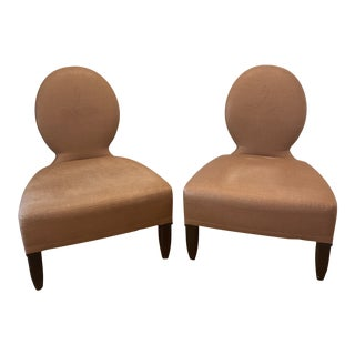 Barbara Berry Opera Slipper Chairs - A Pair For Sale