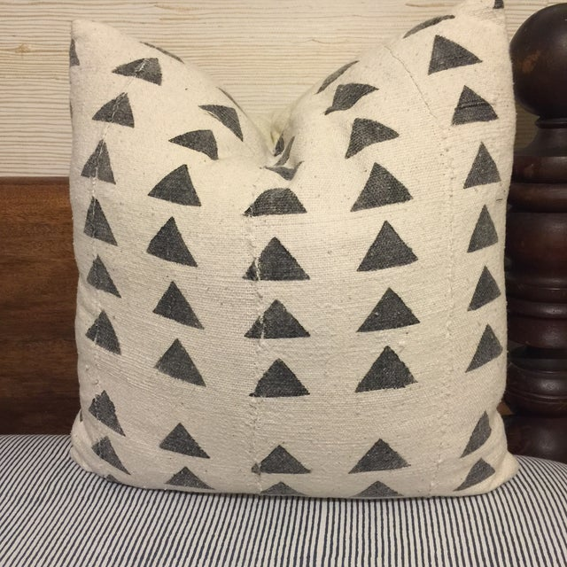 Mali Mudcloth Pillow, Triange, 18x18 - Image 2 of 5