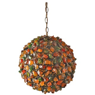 Mid-Century Plastic Nugget Brutalist Ball Fixture For Sale