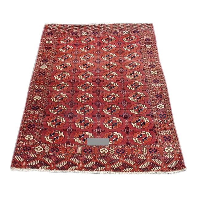 Red Tekke Main Carpet - 7′4″ × 9′4″ For Sale