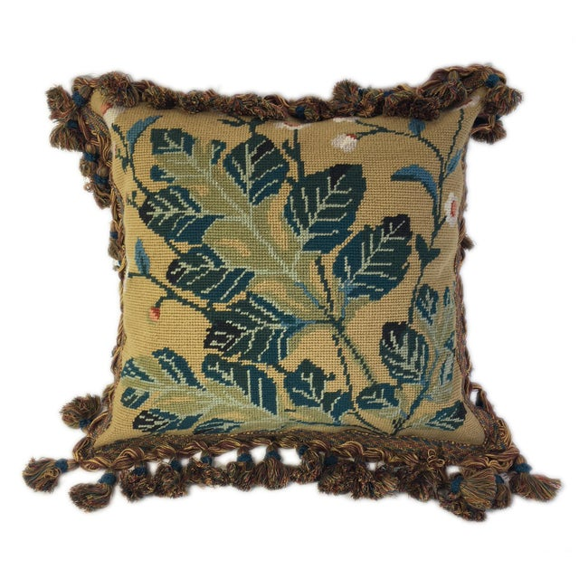 Traditional Traditional Cornflower Garden Pillow For Sale - Image 3 of 3