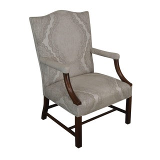 Kittinger Colonial Williamsburg Adaptation Mahogany Chippendale Library Armchair For Sale