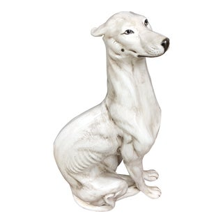 Palladio Italian Ceramic Whippet Greyhound** For Sale