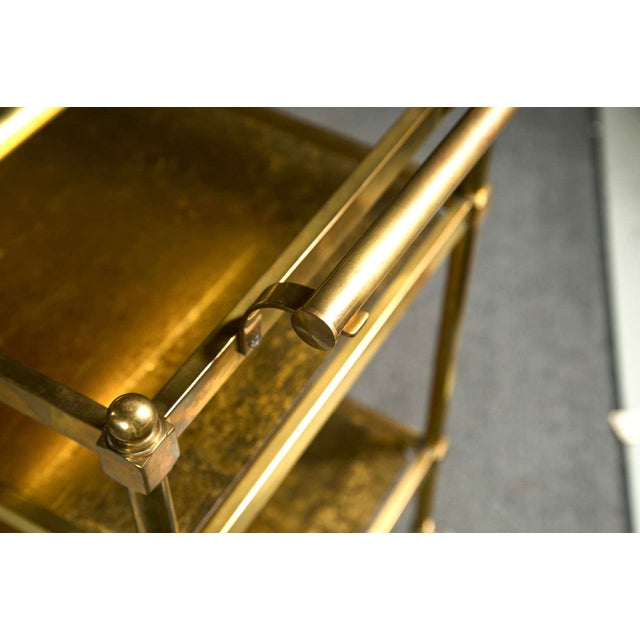 Art Deco French Art Deco Gilt Brass Tea Cart For Sale - Image 3 of 6