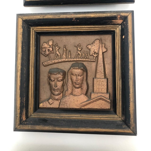 Bronze 1940s Bronze Wpa Plaques - Set of 6 For Sale - Image 8 of 12