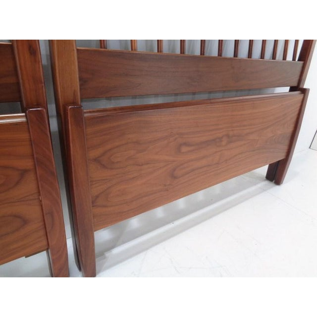 Brown Kipp Stewart for Drexel Declaration Twin Beds ~ a Rare Pair For Sale - Image 8 of 13
