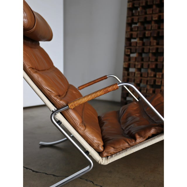 Canvas Preben Fabricius and Jørgen Kastholm Grasshopper Chaise for Alfred Kill For Sale - Image 7 of 13