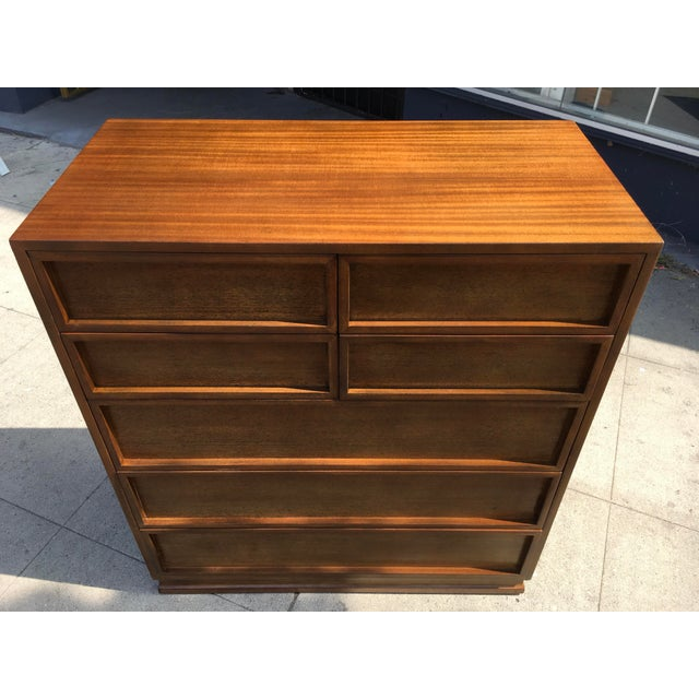 1950s Mid Century Modern Triangle Brand Mahogany Highboy For Sale - Image 10 of 12