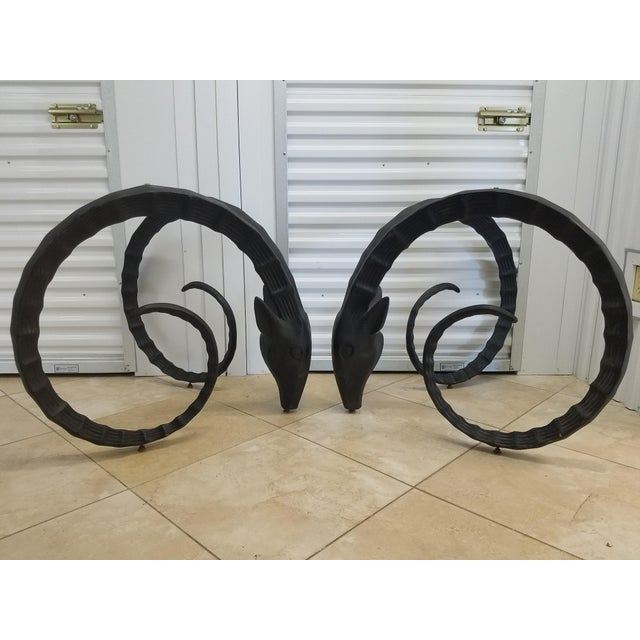 1990s 1990s French Ibex Table Bases - a Pair For Sale - Image 5 of 5
