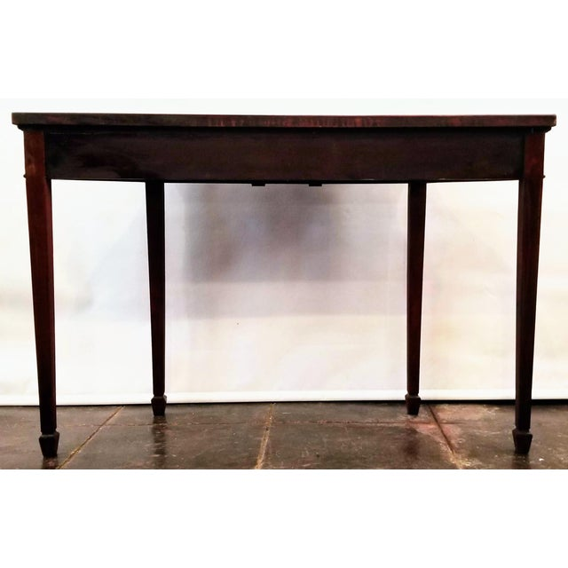Early 20th Century George III Neoclassical Style Mahogany Console Table For Sale - Image 5 of 7