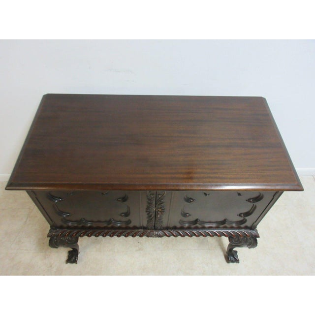 Antique Mahogany Ball Claw Chippendale Cupboard For Sale - Image 4 of 11
