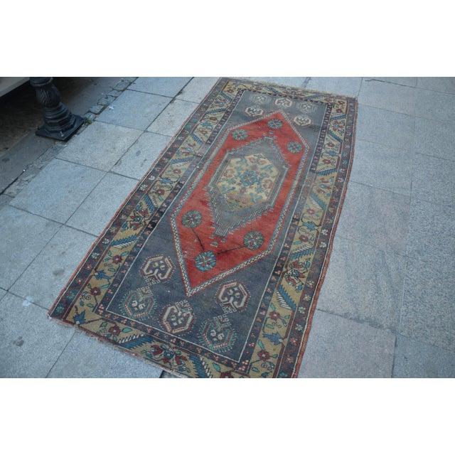 Islamic Anatolian Wool Turkish Rug - 3′4″ × 6′9″ For Sale - Image 3 of 6