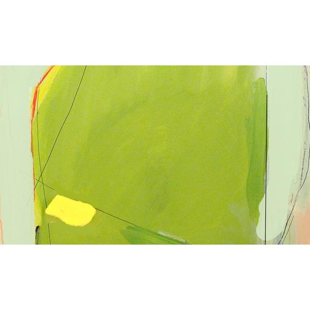 This is an acrylic, pencil and collage painting on heavy paper. It has been mounted to gatorboard, similar to a sturdy...