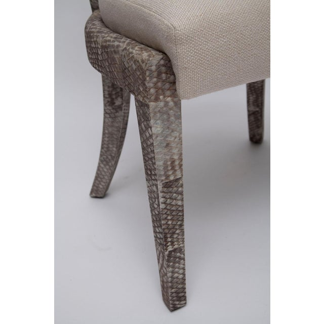 Fishskin Covered Chairs - a Pair For Sale - Image 10 of 10