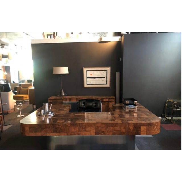 """Directional 1970s Mid-Century Modern Paul Evans """"Cityscape"""" Executive Desk For Sale - Image 4 of 12"""