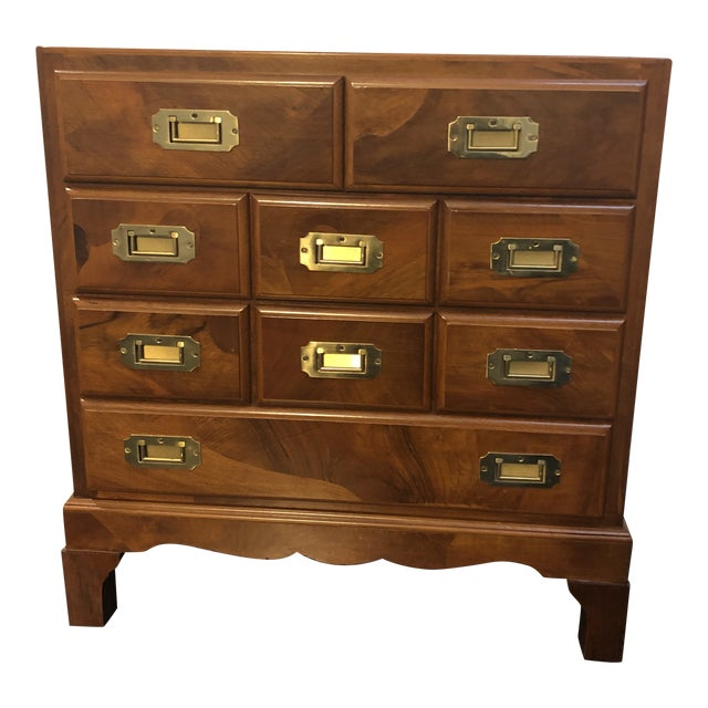Italian Campaign Style Chest of Drawers For Sale
