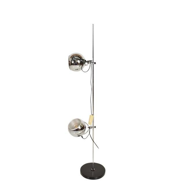 Mid Century Modern Chrome Floor Lamp by Robert Sonneman For Sale