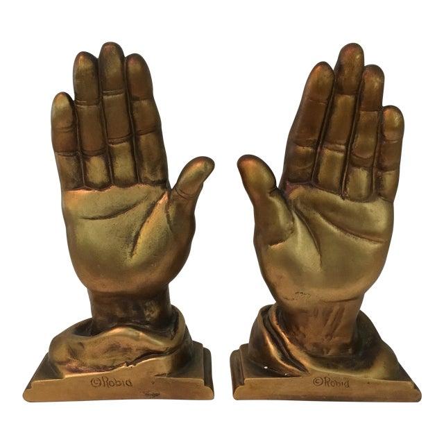 Mid-Century Roman Art Co. Robia Porcelain Hands - A Pair For Sale