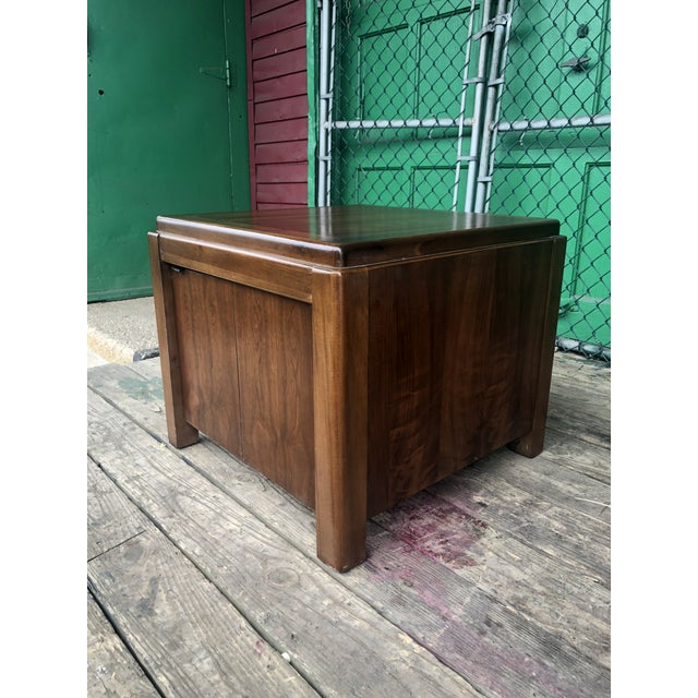 1970s 1970s Mid Century Modern Walnut Nightstand by Lane For Sale - Image 5 of 10