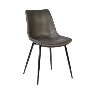 Modern Classic Leather Dining Chair For Sale
