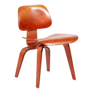 Eames Red Aniline DCW by Herman Miller For Sale