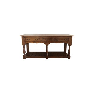 20th Century French Provincial Style Console Table For Sale