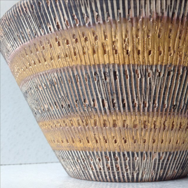 Aldo Londi Bitossi Black And Gold Pottery Bowl - Image 6 of 11
