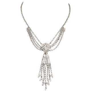 1970s Vintage Rhinestone Necklace For Sale