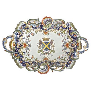 Antique Coat of Arms Heraldic Platter
