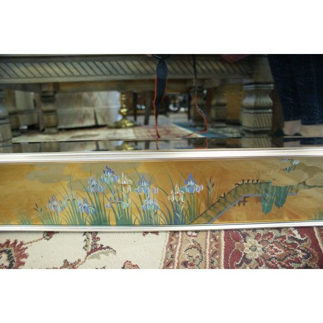 Large La Barge Eglomise Gold Beveled Mirror For Sale - Image 6 of 13