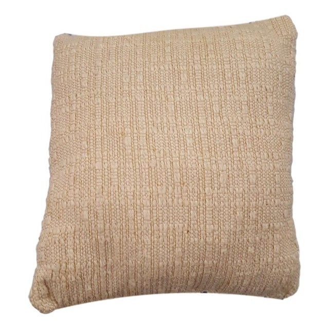 Americana Jonathan Adler Style Vintage Funky Needlepoint Pillow For Sale - Image 3 of 4